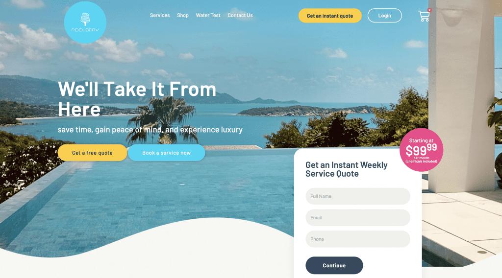 pool service company website